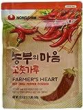 Nong Shim Farmer's Heart Red Chili Pepper Powder – Rotes Paprikapulver zum Würzen zahlreicher Gerichte – 1 x 500g in einer wiederverschließbaren Verpackung