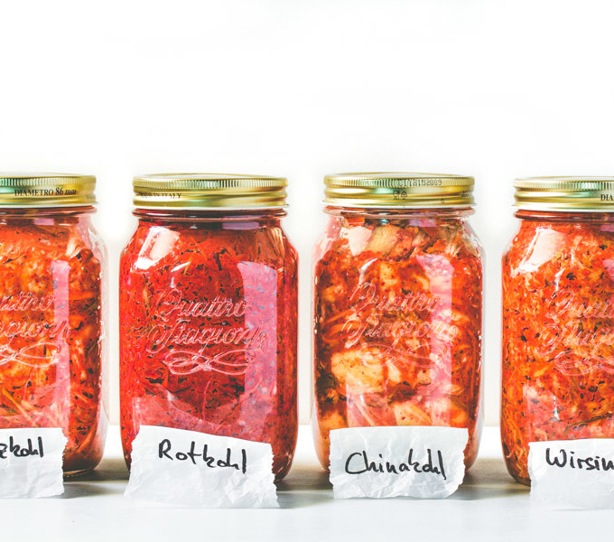 Vier Sorten Kimchi
