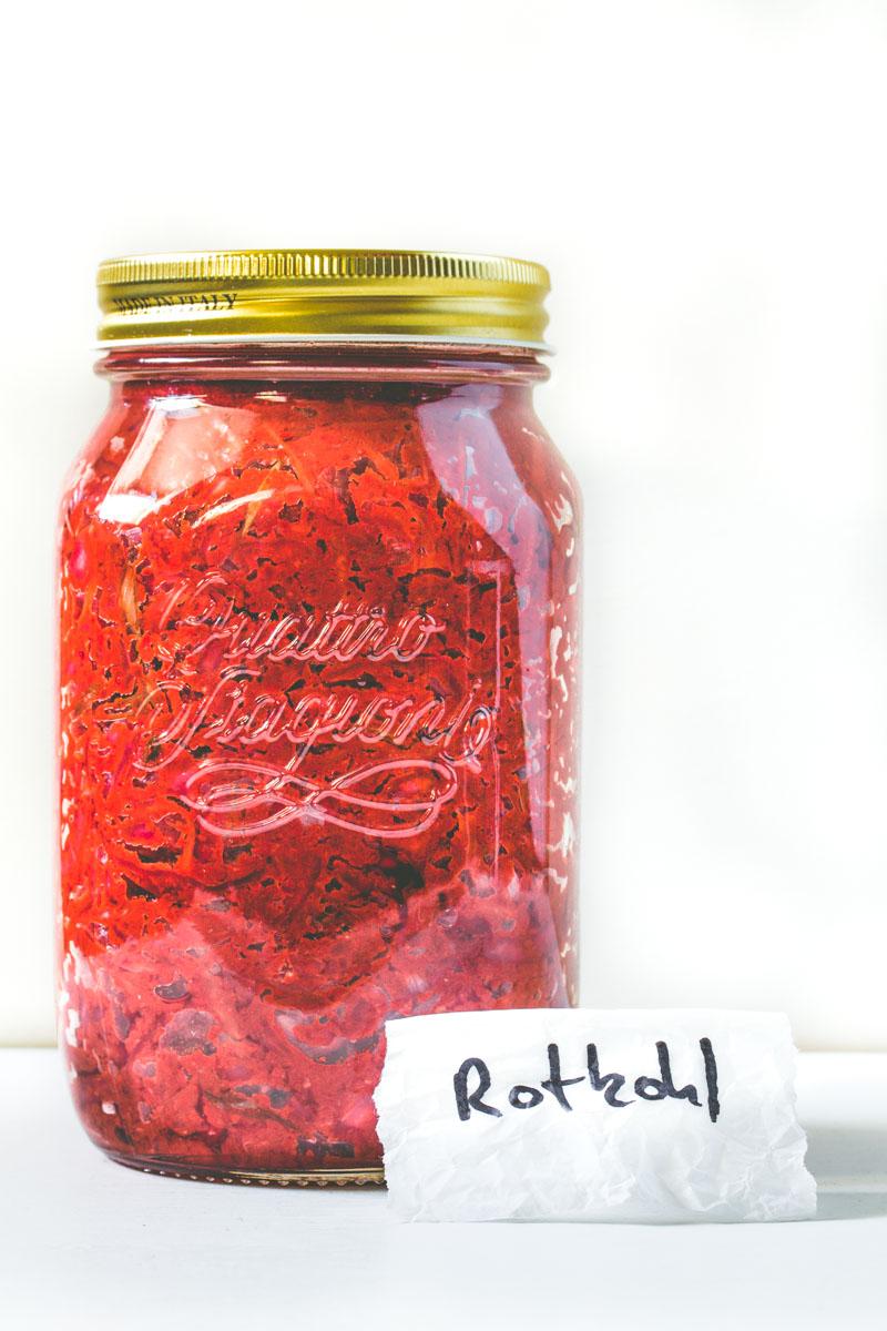 Rotkohl-Kimchi