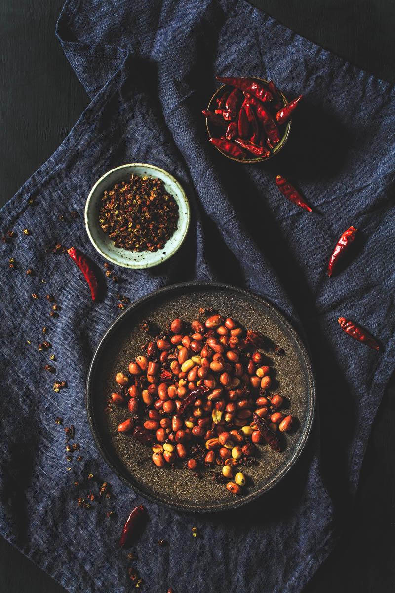 Geröstete Chili-Erdnüsse