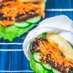 Mantou-Taco mit süß-würzigem Schweinebauch
