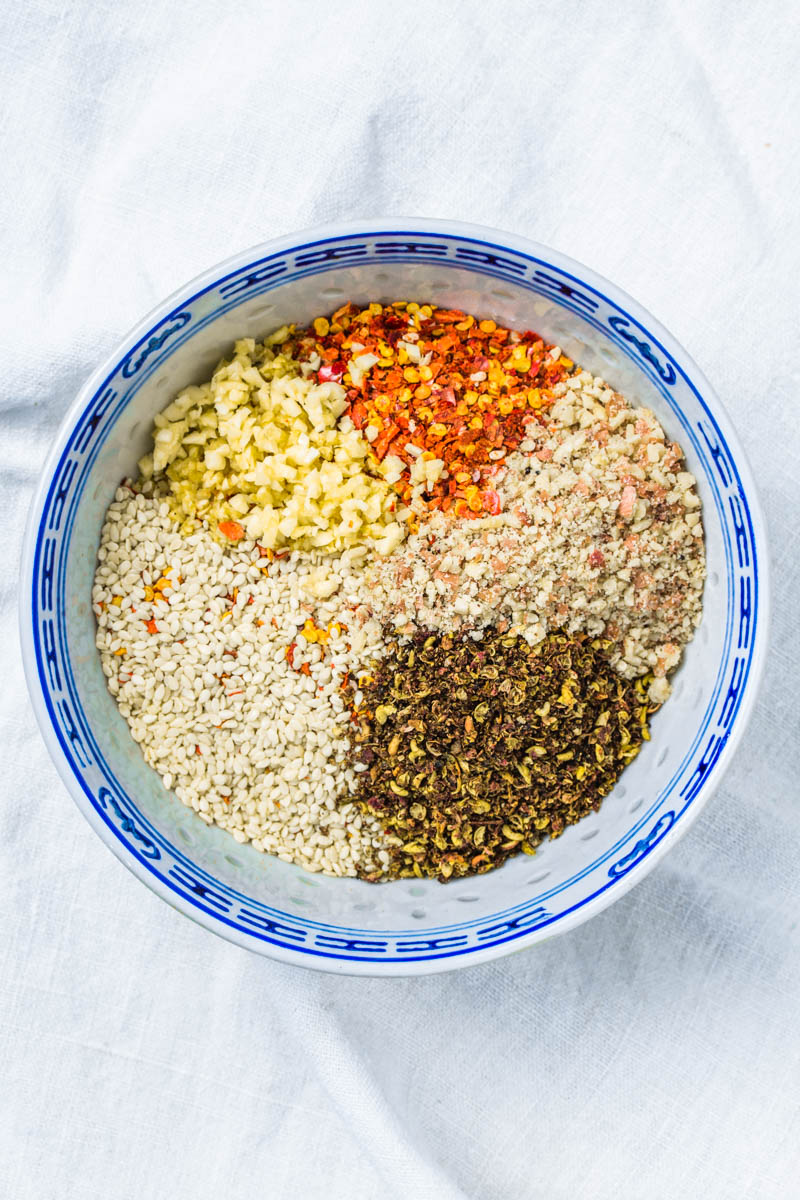 Zutaten für Sichuan-Chiliöl