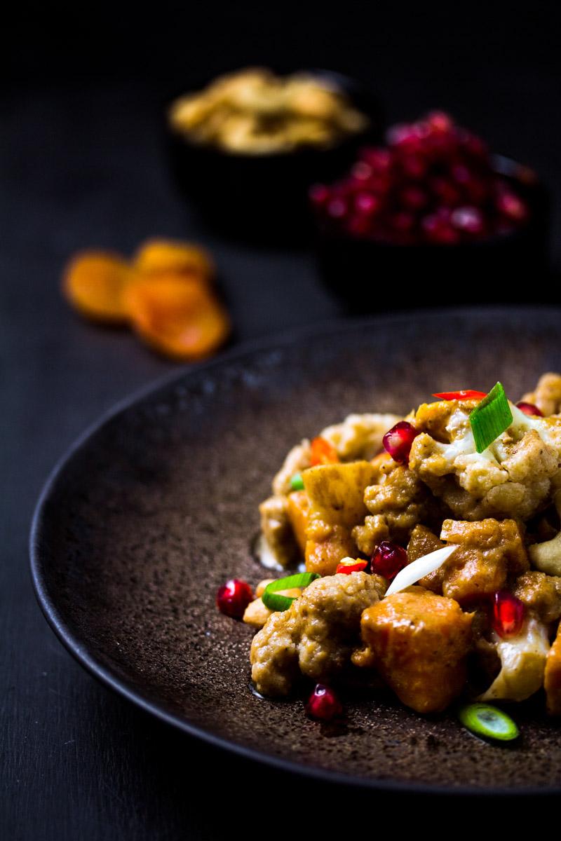 Süßkartoffel-Blumenkohl-Curry