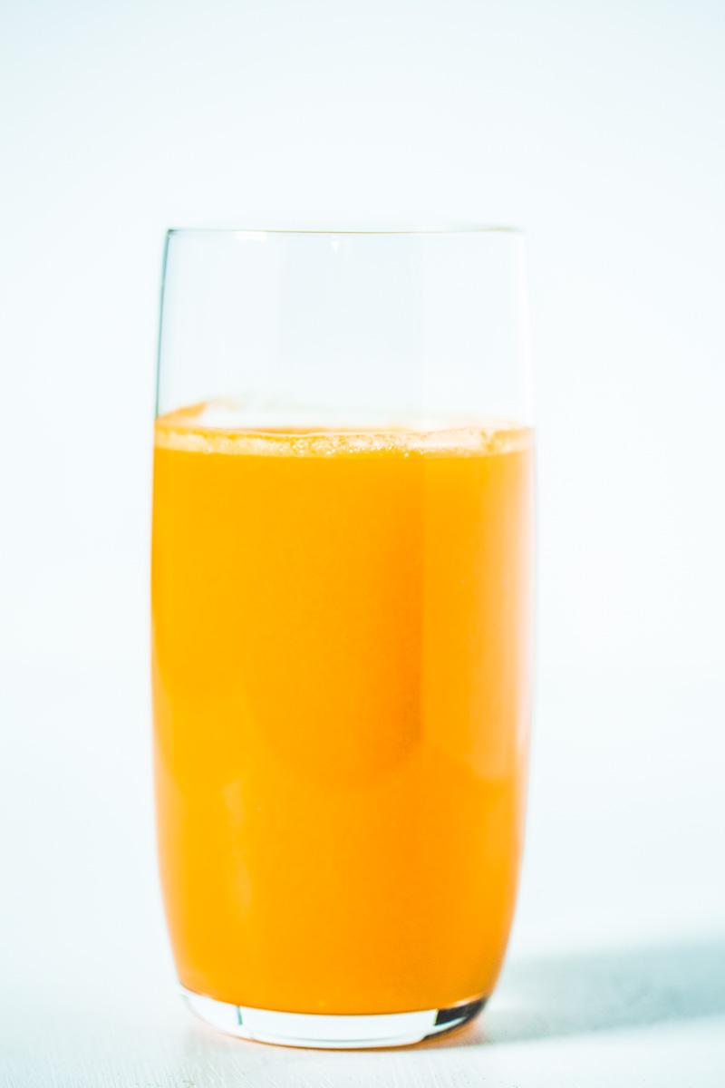 Glas Frühstückssaft