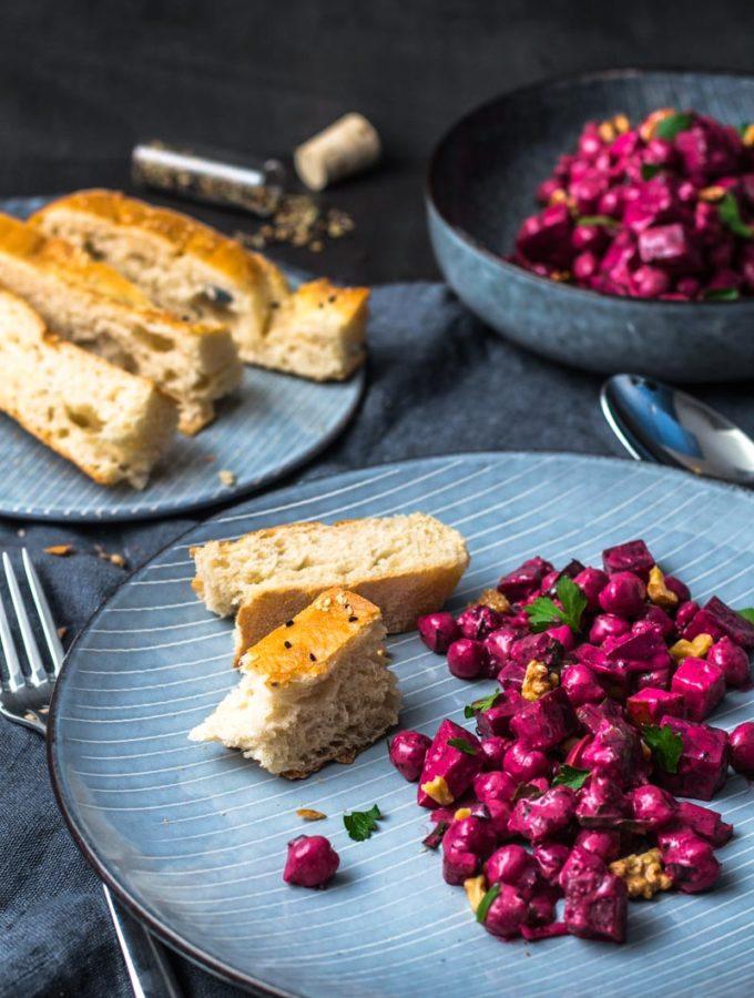 Indischer Kichererbsen-Rote Bete-Salat