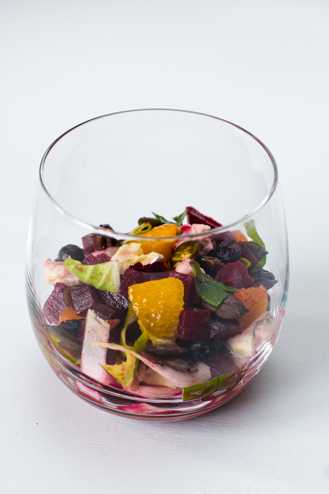 Gastbeitrag von gekleckert: Rote Beete Salat mit Orange, Chicorée und Blauschimmelkäse