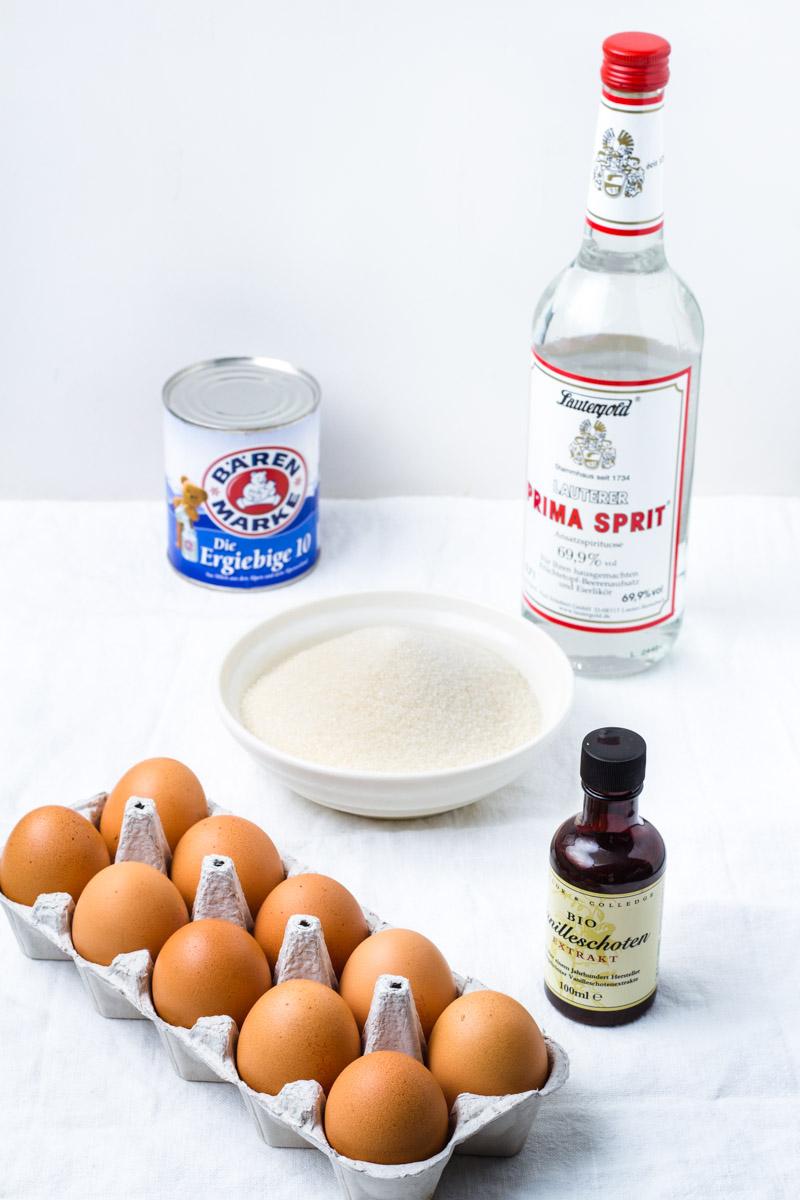 Zutaten für Eierlikör