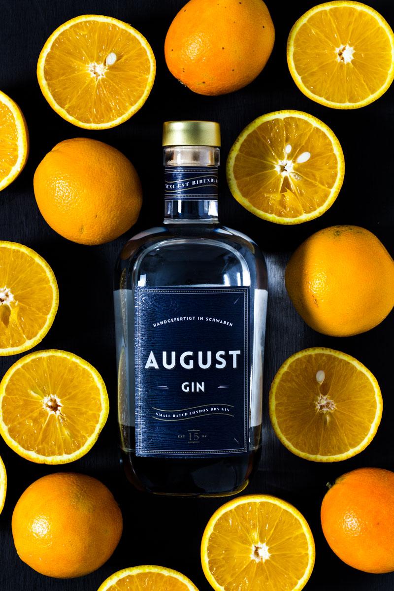 August Gin mit Orangen