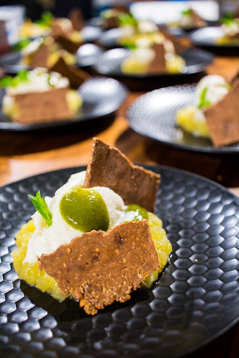 Pre-Dessert - Apfel | Haselnuss | Topinambur