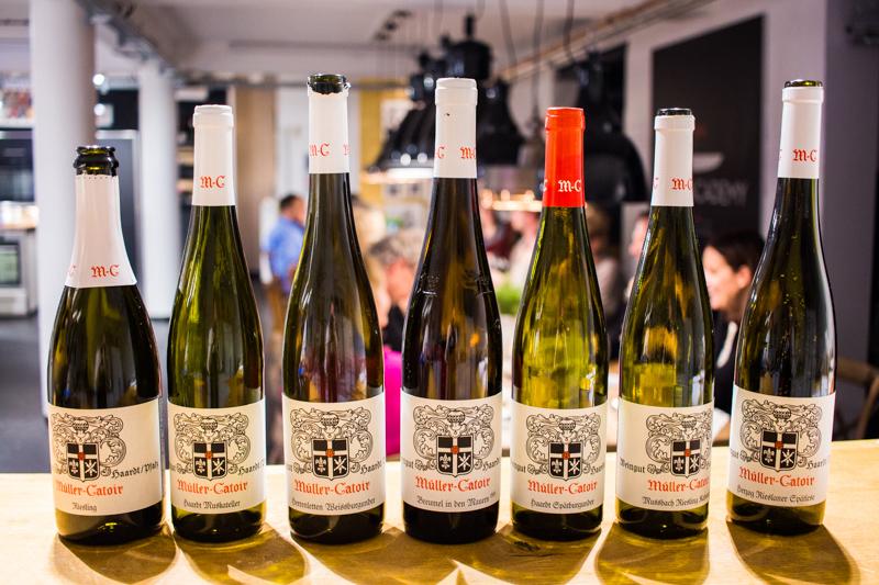 Die Weine des Abends vom Pfälzer VDP Spitzen Weingut Müller-Catoir