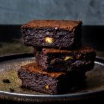 Double Chocolate Macadamia-Brownies