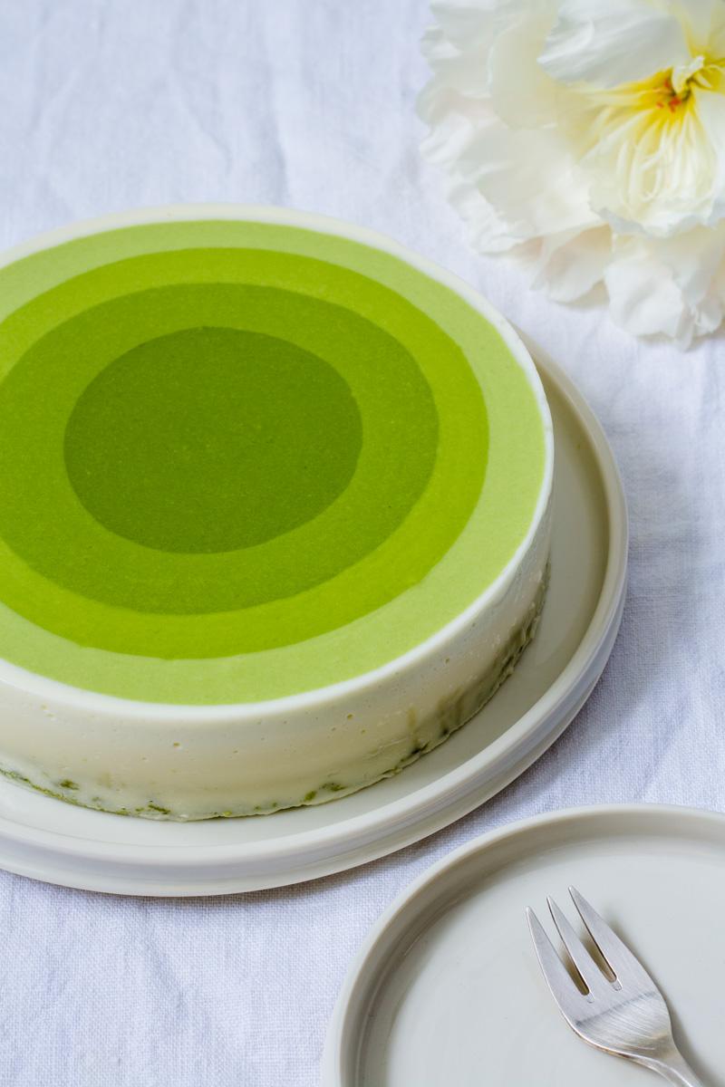 Matcha Mousse Kuchen für Matcha Lover