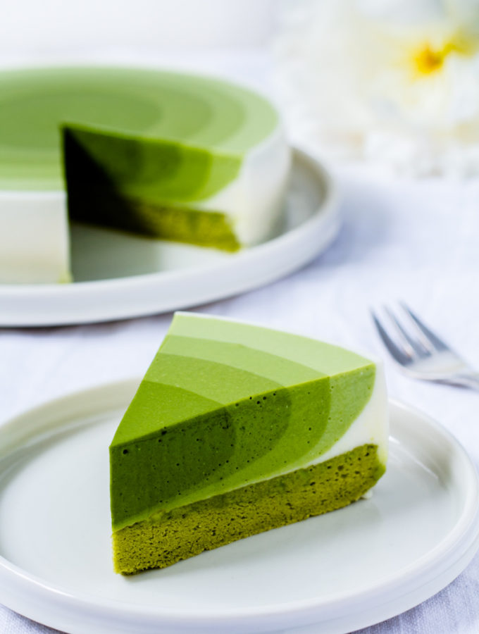 Leckerer Matcha-Mousse Kuchen