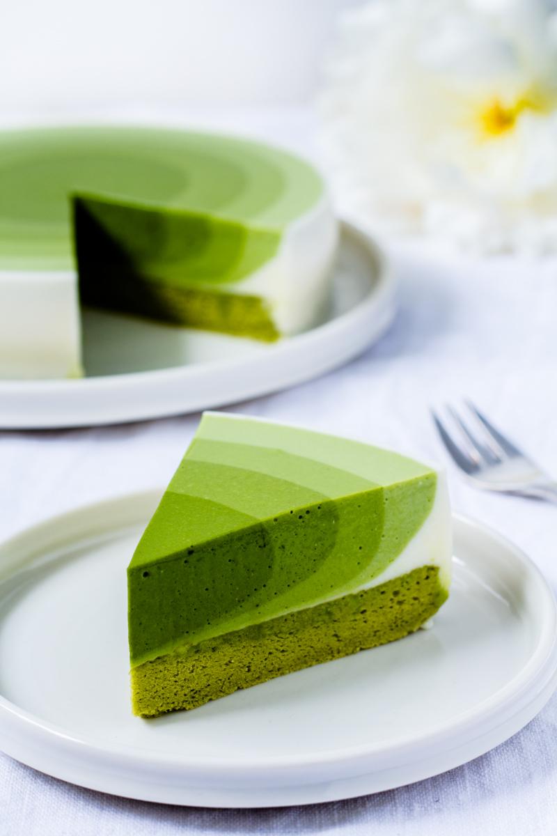 Leckerer Matcha Mousse Kuchen