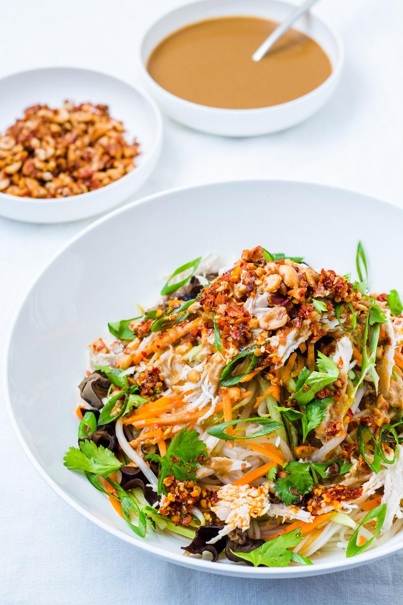 Liang Mian - Chinesische Kalte Nudeln mit Erdnusssauce