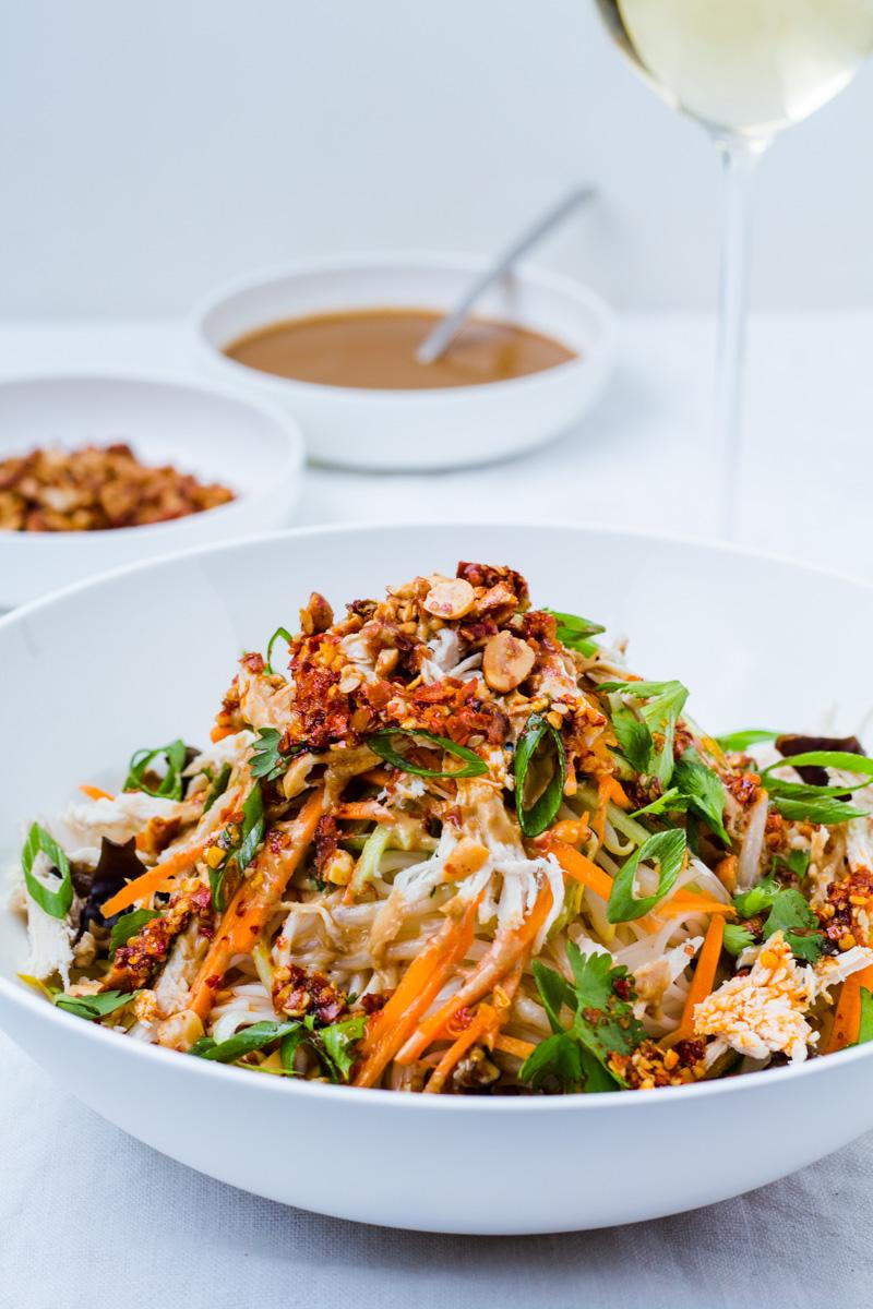 Teller mit Liang Mian - Chinesischen Kalten Nudeln