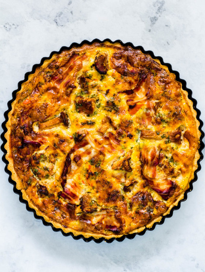 Kürbis-Pfifferling Quiche