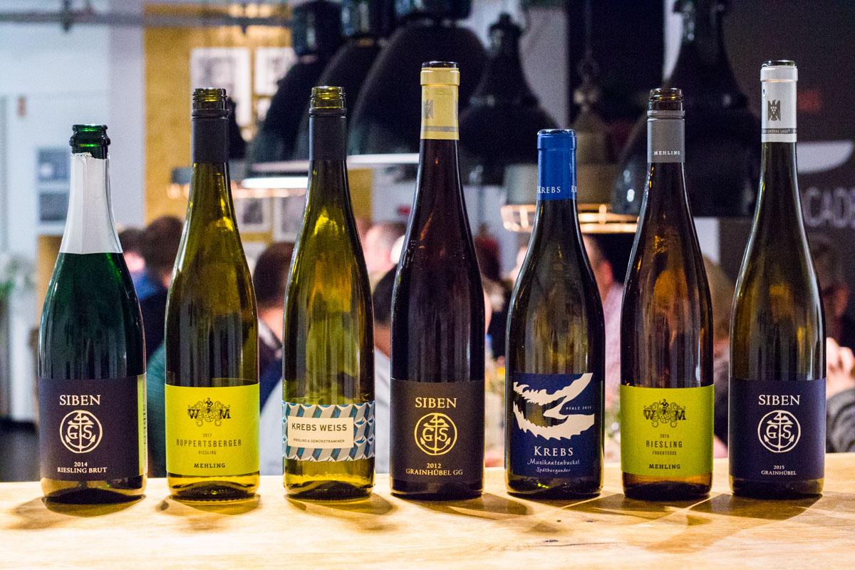 Die Weine des Abends von Pfälzer Spitzen Weingütern