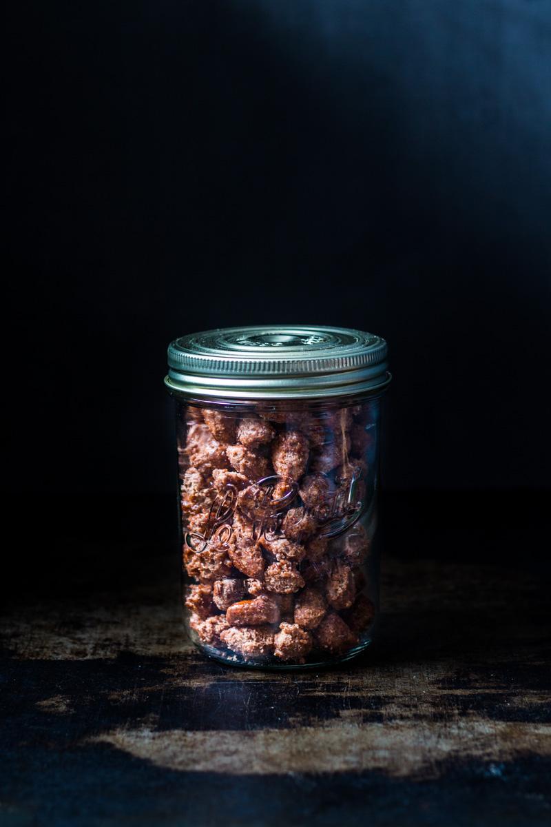 Knusprige Gebrannte Mandeln im Schraubglas