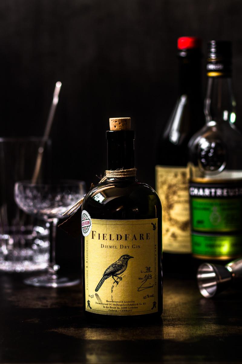 Flasche Fieldfare Gin