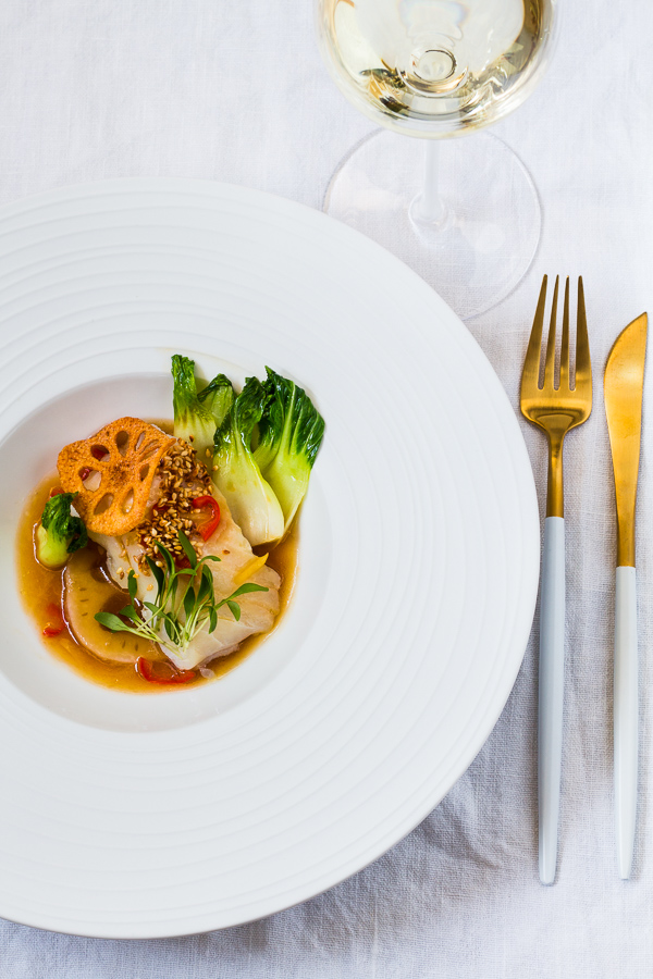 Kabeljau Sous-Vide | Lotus | Pak Choi | Süß-Saure Chili Sauce