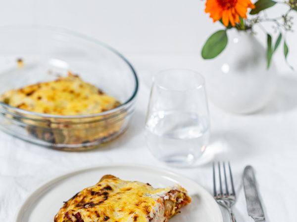 Spinat-Ricotta-Cannelloni mit Gorgonzola und Walnuss