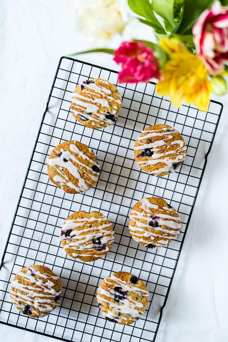 Zitronen-Blaubeer-Joghurt Muffins