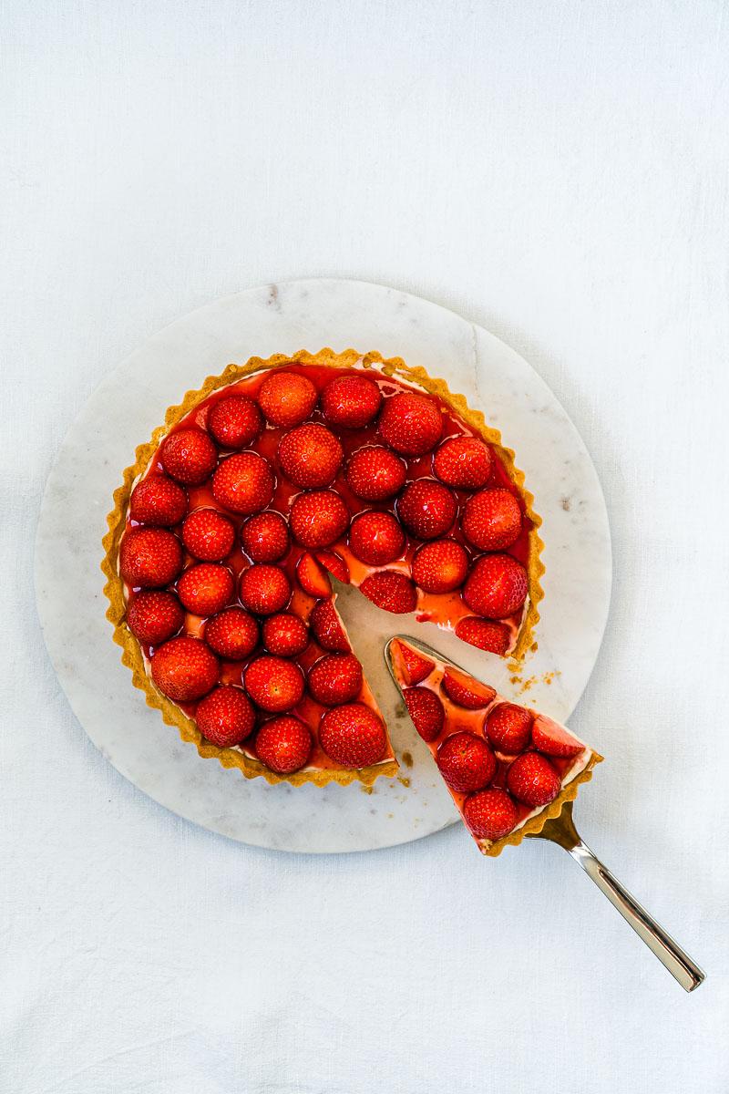 Erdbeer-Tarte mit Lemon Curd-Mascarpone Creme (mit und ohne Thermomix)