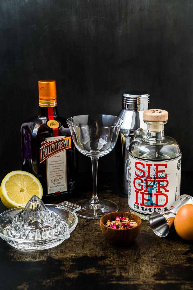 Zutaten für White Lady Cocktail