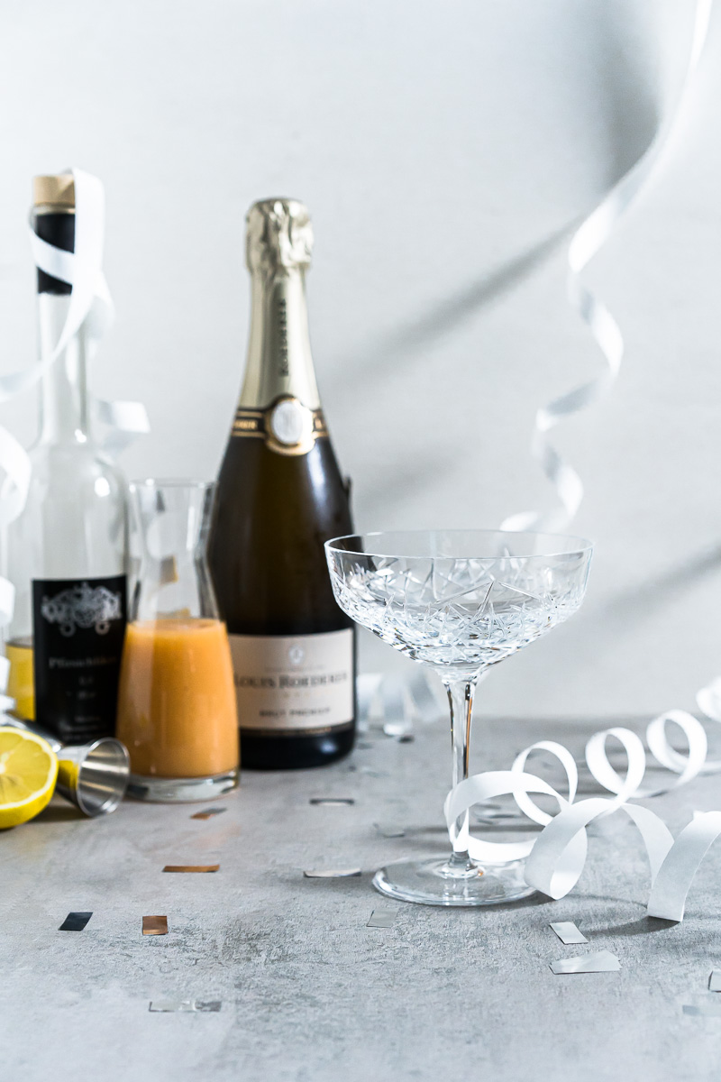 Zutaten für Bellini Cocktail