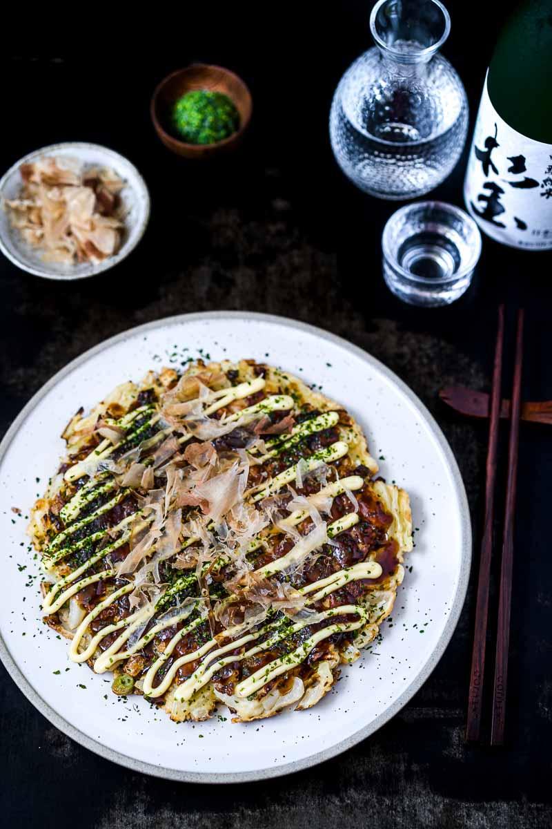 Okonomiyaki mit Sake