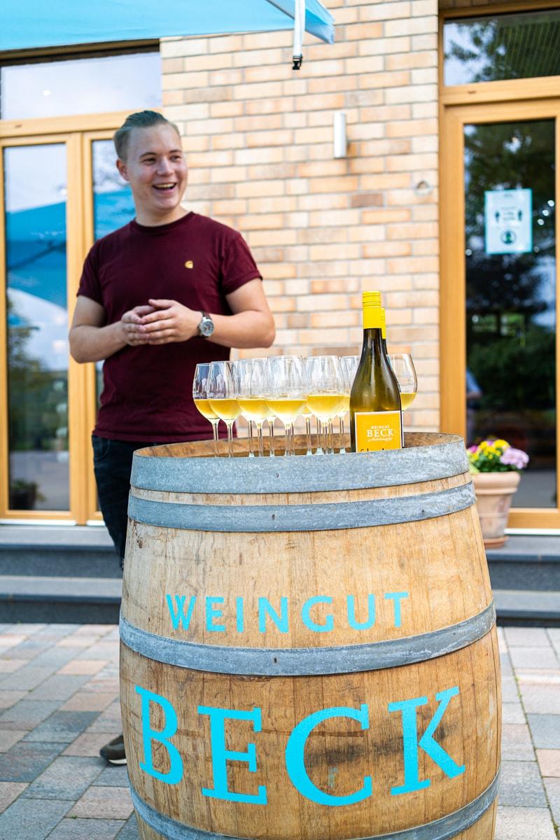 Christoph Beck vom Weingut Beck